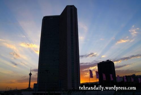 Tehran International Tower Sunset
