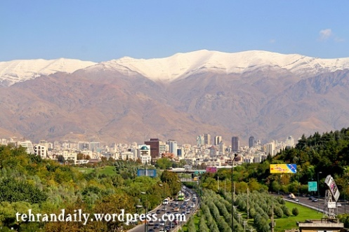 1st Snow in Autumn of Tehran