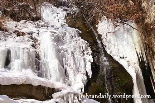 Frozen Waterfall in Darband