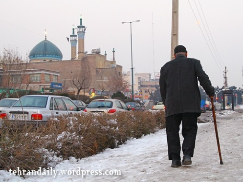 Old Man and Mosque