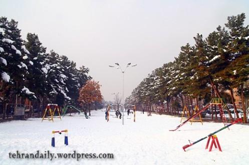Qasr-e-Firuzeh Under Snow