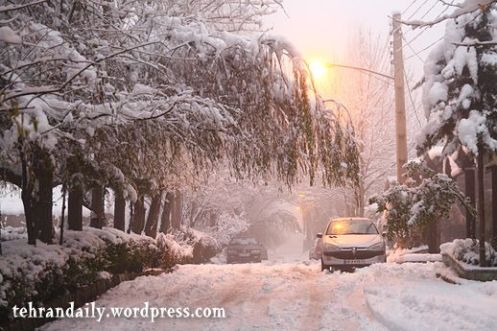 Heavy Snow in Tehran