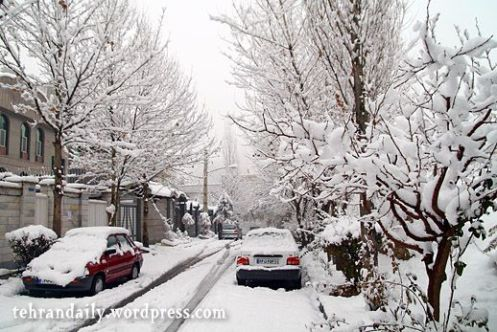 Heavy Snow in Tehran