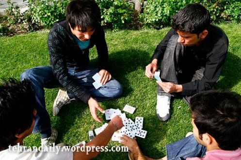 Boys Play Cards