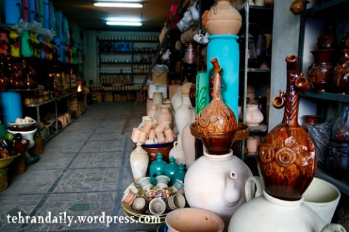Earthenware Shop in Tehran