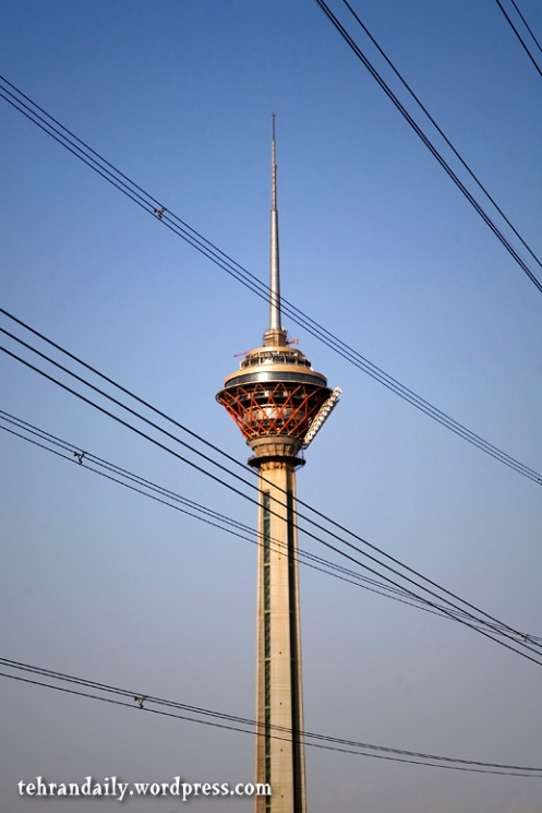 Milad Tower and Wires