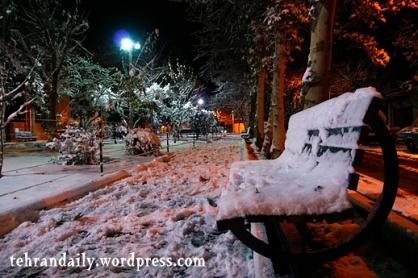 Tehran first snow in autumn 2008