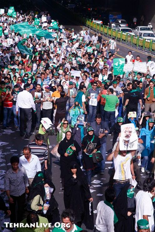 Mousavi Supporters at Azadi Street Rally