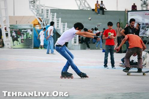 Skaters in Ab-o Atash Park