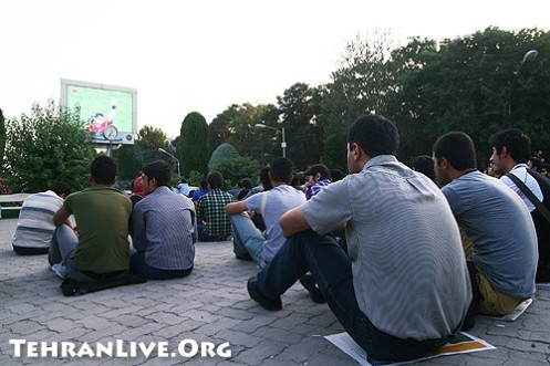 Watching worldcup in Parks