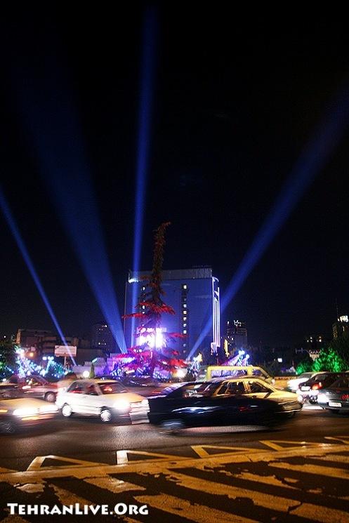 Vanak Square at Night