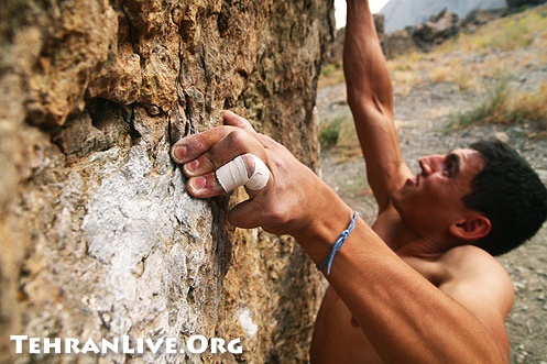 Bouldering in Darband