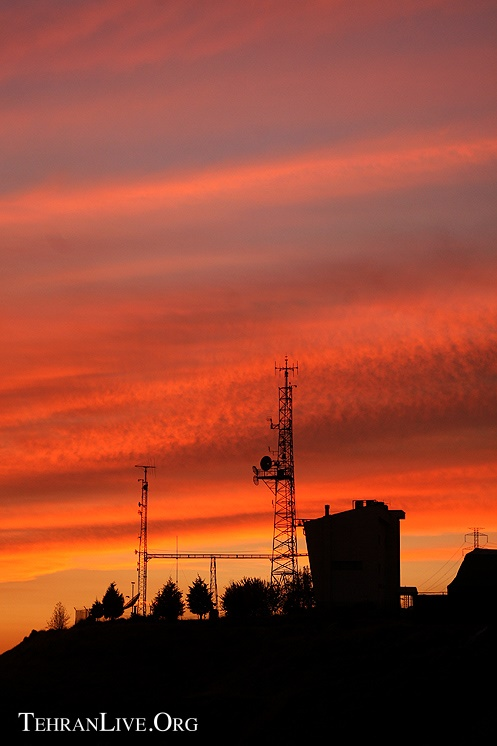 Telecom Antena and Sunset