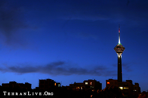 Milad Tower and Blue Sunset